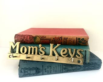 Vintage Brass Key Holder for Mom