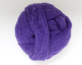 Polypay Wool Roving -- Violet