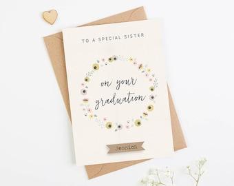 Sister Graduation Card Personalised