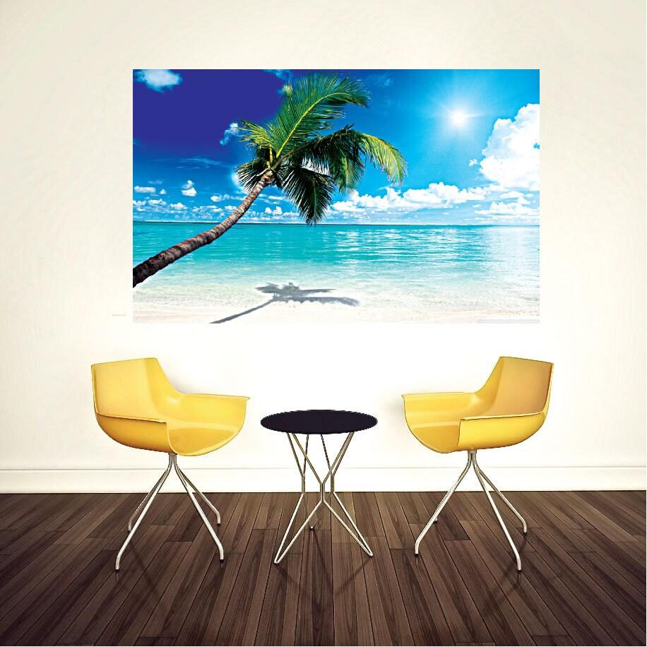Beach Wall Decal Palm Tree Wall Murals Beach Bedroom Wall
