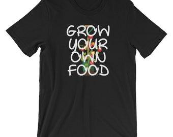 Grow Your Own Food Gardening T-shirt Veggie Tee