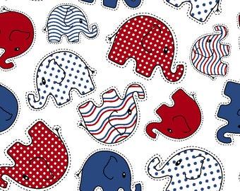 ProSoft® Waterproof 1 mil PUL Print - Elephant Toss Glory (sold by the yard)