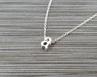 Silver Initial Necklace - Initial Personalized Necklace - Custom Gift - Letter Necklace - Layering Necklace - Best Friend Necklace