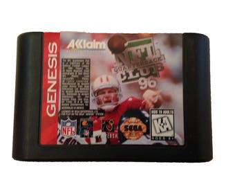 Vintage NFL Quarterback Club Steve Young Sega Genesis 1996 Video Game