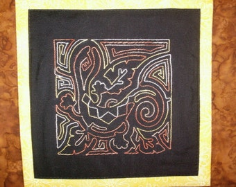 Nazca Lines - Secrets of the Past -Machine Embroidered and Quilted Cotton Table Runner
