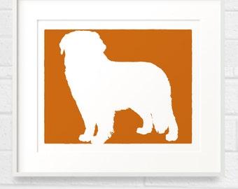 Mod Saint Bernard Dog - 8x10 Silhouette Art print