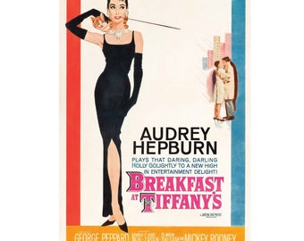 Breakfast at Tiffany's Movie Poster Large A1 Audrey Hepburn Classic Glossy Print