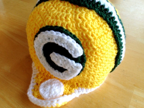 Green Bay Packers Helm häkeln Football Helm Hut für Kinder 5