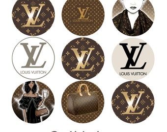 Louis Vuitton Inspired, Set of 2 Edible Transfer Sheets for making themed Chocolate, Oreo & Cupcake toppers, Theme Birthday Party Favors