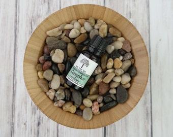 Organic Camphor Essential Oil • Ravintsara • Therapeutic Grade • Pure • Uncut • 10 ml With Dropper Caps •