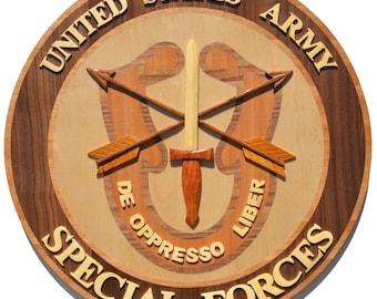 U.S. ARMY SPECIAL FORCES (Big) - WoodArt Plaque