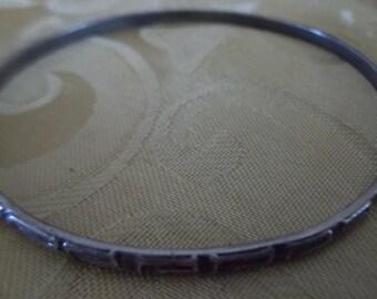 Sterling Silver Narrow Bangle Bracelet
