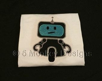 Mr Roboto Full Robot Applique Design **DIGITAL FILE**
