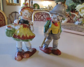OCCUPIED JAPAN BOY and Girl Figurines