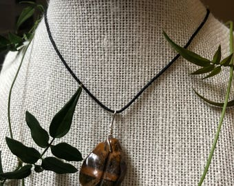 SALE 40% OFF- Simple Tiger Eye Necklace