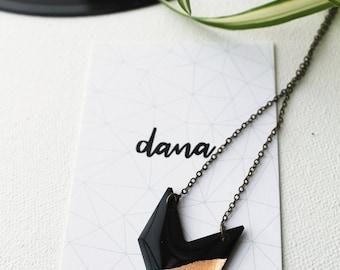 chevron necklace geometric necklace modern necklace simple necklace vinyl record necklace contemporary jewelry edgy minimalist jewelry