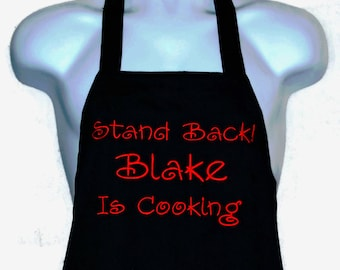 Funny Wife, Hubby Cooking Apron, Stand Back, Custom Personalize Gift, With First Name, Grammy, Grampy, No Shipping Fee, Ship TODAY, AGFT 173