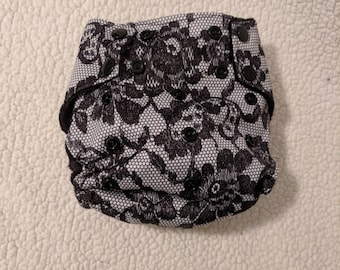 Pocket diaper - Cloth Diaper - Lace - Baby Diaper -Diaper Cover