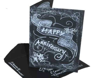 Custom Personalized Hand Painted Chalkboard Art Card You choose style