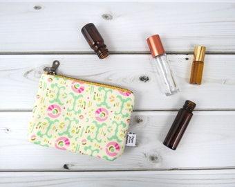 Ity-Bity Zipper Pouch - Freshcut - mini change pouch essential oil bag coin purse Zip Wallet Money Wallet Change Purse