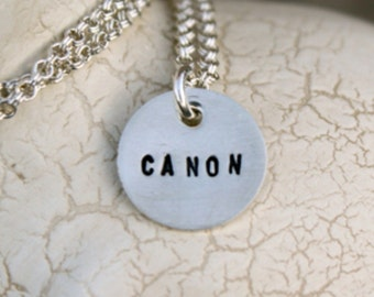 One sterling silver custom teeny tag necklace