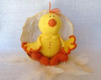 Wholesale crochet Mero cute yellow chick