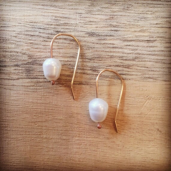 Gold and Pearl Earrings, Pearl Drop Earrings, Brides Earrings, Bridesmaids Earrings, Gold Filled Earrings, Sterling and Pearl Earrings