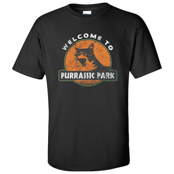 Welcome to Purrassic Park Parody T-shirt