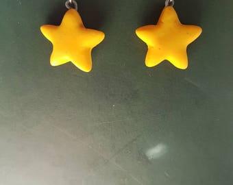 Yellow stars earrings