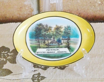 Moonta South Australia vintage souvenir oval pin dish, made in Germany, 1970s