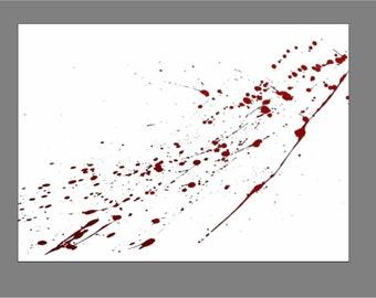 DEXTER Blood Spatter Glass Kitchen Cutting Board #1205
