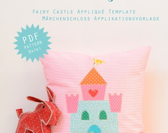 PDF Applique Template - Fairy Castle