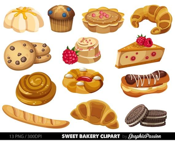 bakery clipart sweet treat bakery clip art breakfast clipart dessert rh etsystudio com dessert clip art free desert clipart