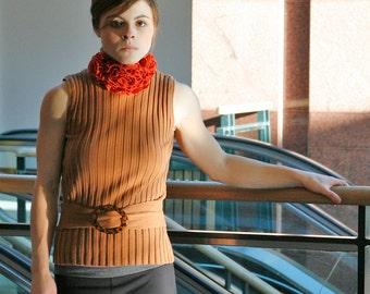 50% SALE upcycled sweater XS - S upcycled clothing, sleeveless turtleneck
