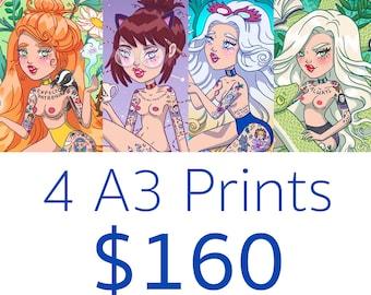 4 x A3 Print Pack