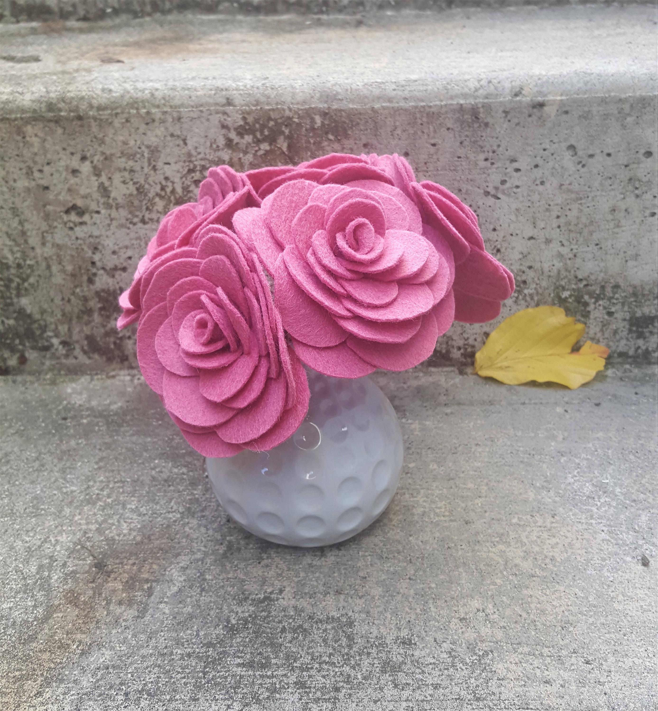 Felt Flowers Felt Roses Felt Flower Bouquet Felt Decor Set