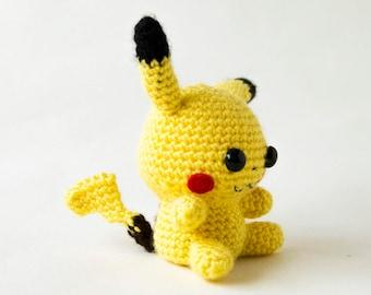 Pikachu amigurumi, cool pokemon gift, plush pokemon, pokemon gift present, pokemon plushies, pokemon gift gift, pokemon go