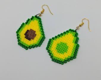 Perler Avocado Earrings