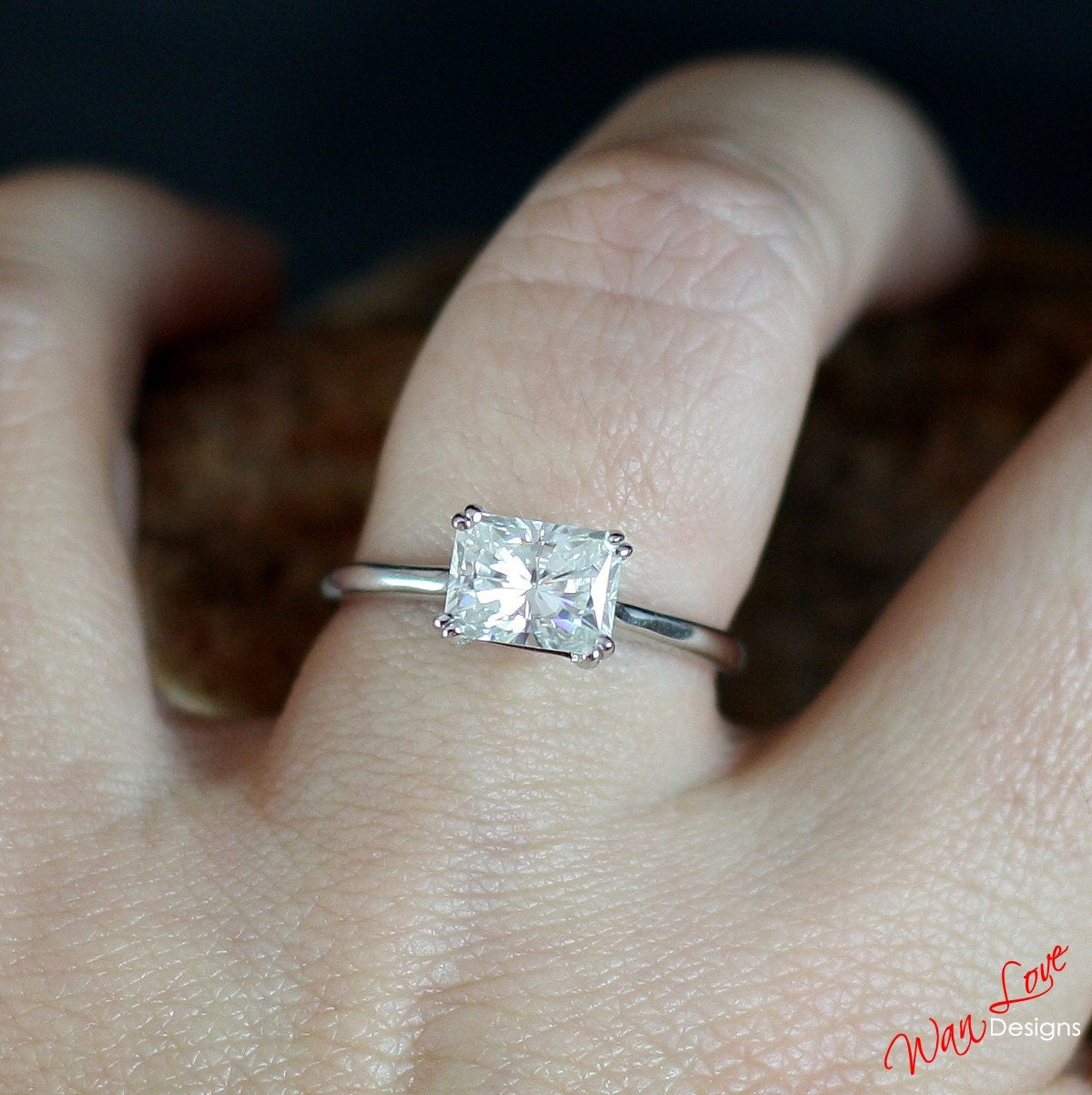 band deco retro ring eternity vintage engagement diamond carat white art oval gold bands rings full moissanite