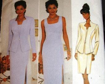 Butterick Pattern 5389 OOP Misses Jacket and Dress Size 6 8 10 UNCUT