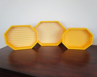 Yellow  Nesting Trays (Set of 3 )