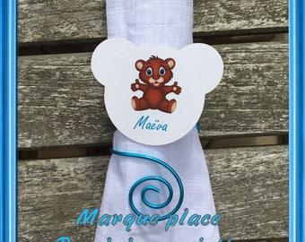 Brand square napkin Brown Teddy bear