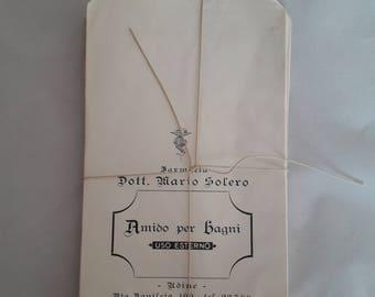 Vintage Italian Chemist Shop Packaging | Farmacia Paper Bag | 10 Vintage Advertising Bags | Old Pharmacy Shop Bags