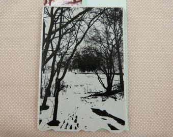 Foam pad, winter landscape