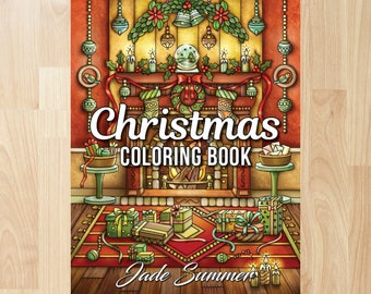 Christmas Coloring Book by Jade Summer (Coloring Books, Coloring Pages, Adult Coloring Books, Adult Coloring Pages)