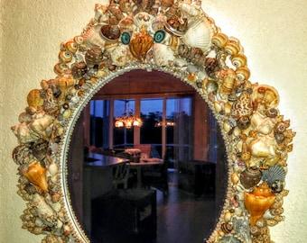 Seashell Mirror Etsy