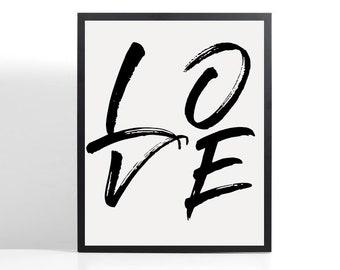 LOVE / A4 / A5 Print / Unframed
