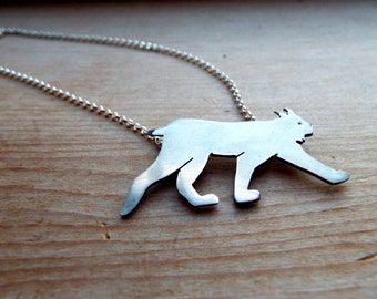 Canadian Lynx Sterling Silver Necklace
