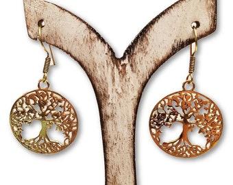 Earrings Golden Tree Ref Pl46