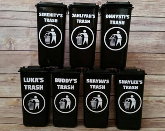 Personalized Trash Can - Garbage Can - Pen/Pencil Holder - Desk Organization - Party Favor